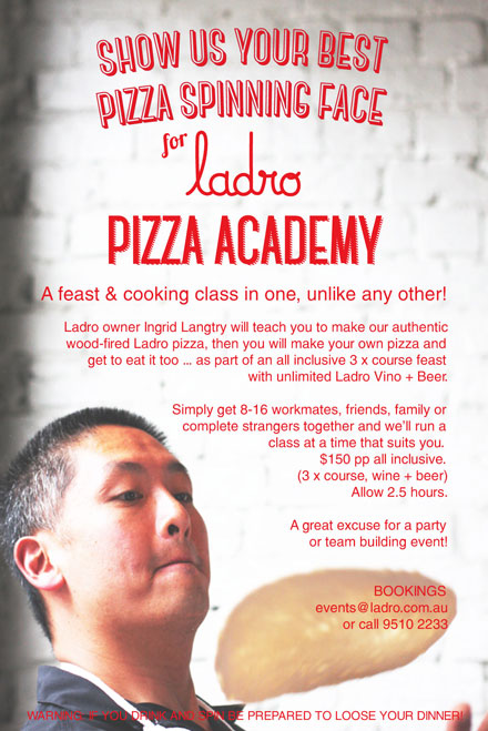 ADULTS PIZZA MAKING ACADEMY