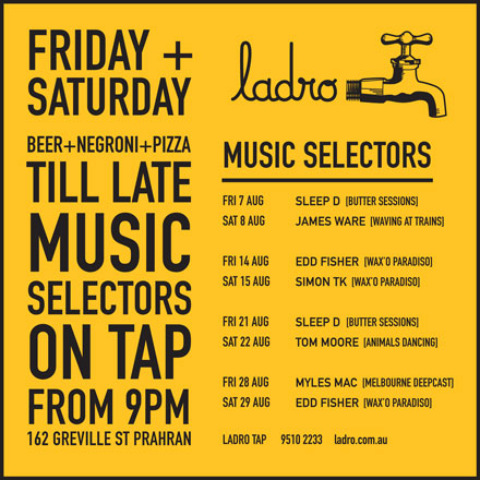 LADRO-TAP-MUSIC-AUGUST